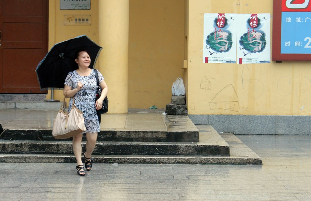 Chinese lady in Xiaozhou village